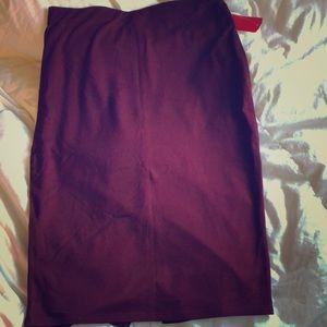 Maroon pencil skirt!
